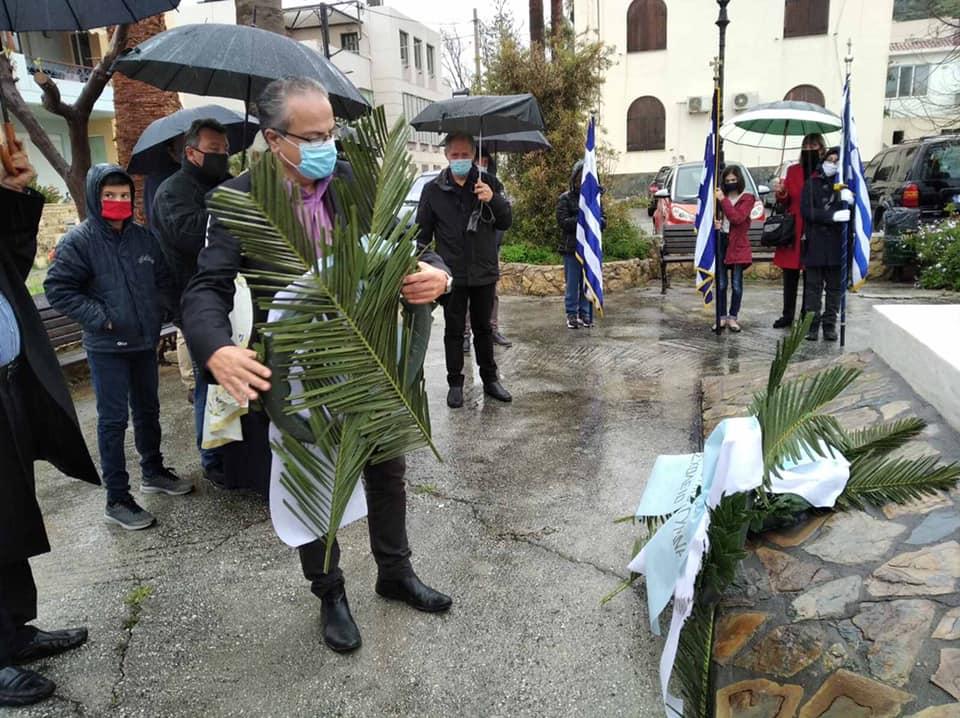 Ο Δήμος Πλατανιά τίμησε την επέτειο της Επανάστασης – Το μήνυμα Μαλανδράκη